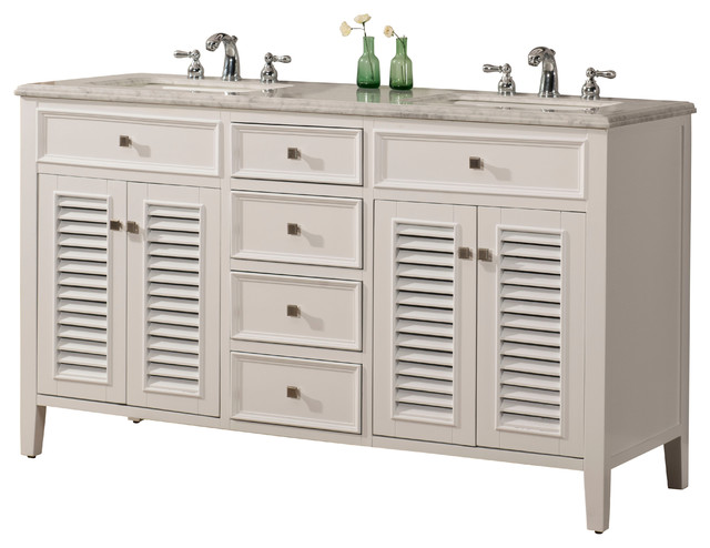 60 Cottage Style Double Sink Bathroom Vanity Model 3328 60 W Beach Style Bathroom Vanities And Sink Consoles By Chinese Arts Inc