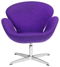 Swivel Swan Chair in Purple - Contemporary - Armchairs ...