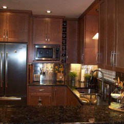 Kitchen Remodeling Tampa Stand Alone Cabinet For Remodeled With Stainless Steel Backsplash And ...