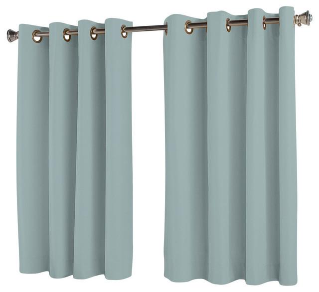 Elegance Insulated Short Length Grommet Panel Aqua 54 X