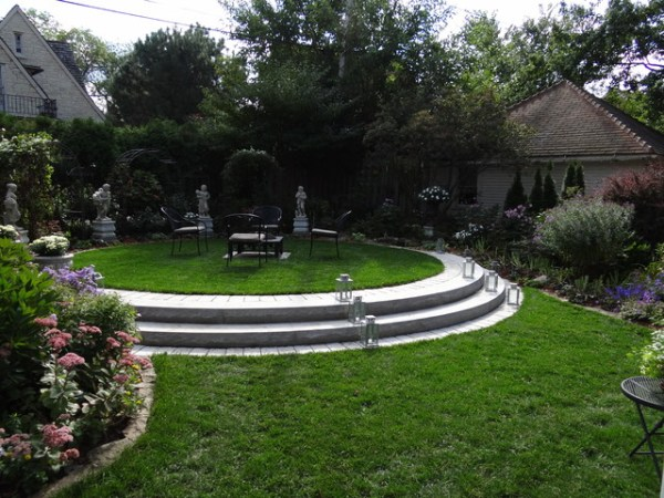 formal backyard seating area