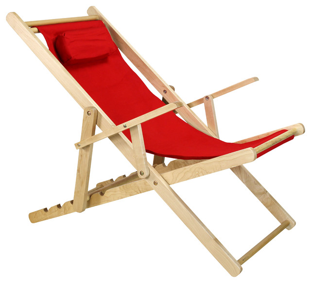 sling chair outdoor reclining contemporary folding chairs by casual home red
