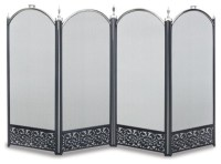 4 Panel Sausalito Screen - Traditional - Fireplace Screens ...
