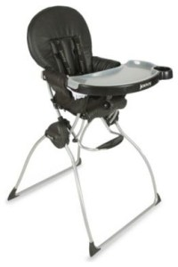 Joovy Nook High Chair in Black Leatherette - Contemporary ...