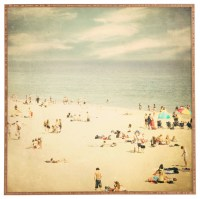 """Vintage Beach"" Bamboo Framed Wall Art - Beach Style ..."