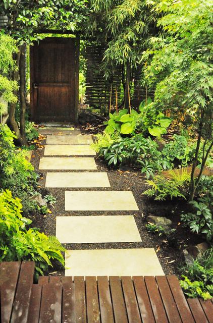modern paver path ipe hardwood