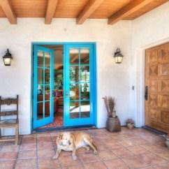 Turquoise Patio Chairs Empire Modern Executive Chair Spanish Hacienda Homestead - Southwestern Entry Santa Barbara By Kari Architect