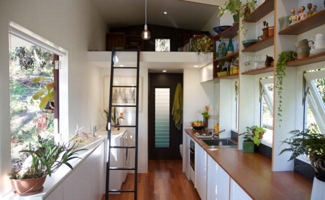 Inner City Suburban Tiny House Contemporary Kitchen