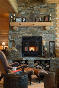 Refined Log Home - Rustic - Living Room - Other - by ...