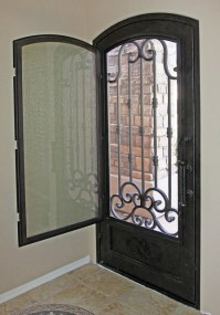 Traditional Scroll Iron Entry Door by First Impression ...
