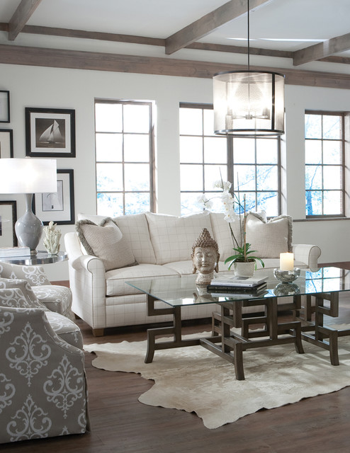 photos of living rooms with brown leather furniture nicely decorated room scenes - beach style sofas charlotte by ...