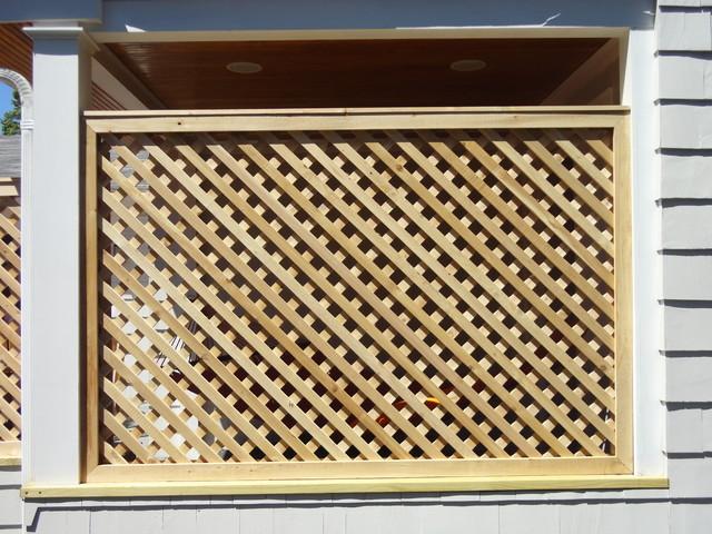 cedar lattice screens and enclosures
