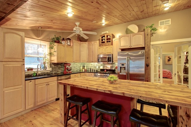 Lakeshore House Rustic Kitchen Boston Roddy Realty Group