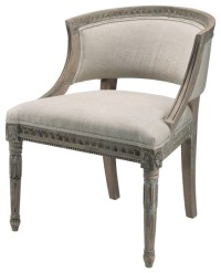 Parisian Upholstered Wood Frame Occasional Chair ...