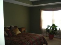 I have a really dark green bedroom and cherry furniture ...