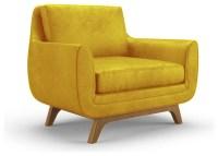 Calhoun Leather Chair - Brighton Lemon Grass Yellow ...