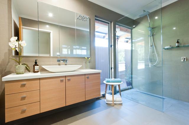 Mitcham  House  Contemporary  Bathroom  Melbourne By