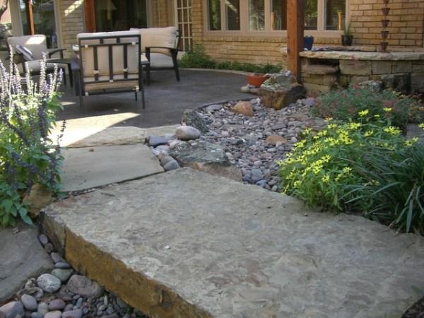 river rock garden - eclectic