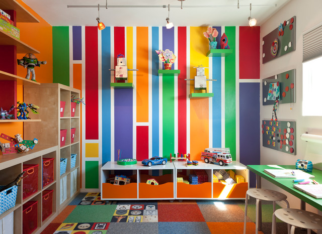 Colorful Mid Century Modern Residence midcentury-kids