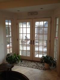 Window treatment on French doors?