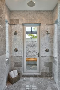 Master bath with access to outdoor shower - Traditional ...