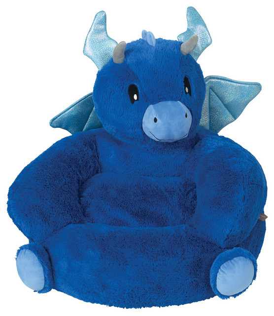 kids plush chairs unique office uk trend lab children s dragon character chair contemporary by