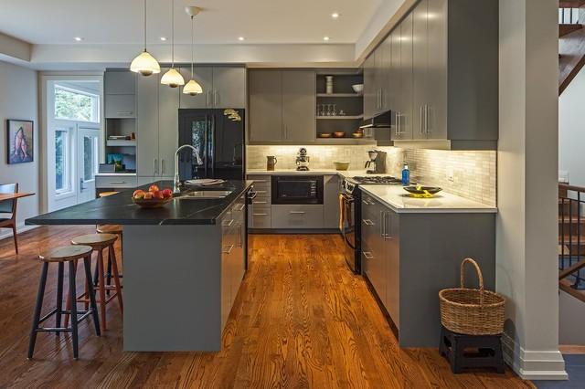 Black Kitchen Cabinets Houzz Inspiring