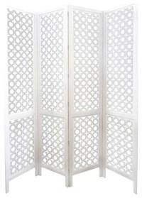 Carved Wood Work White Screen/Room Devider - Mediterranean ...