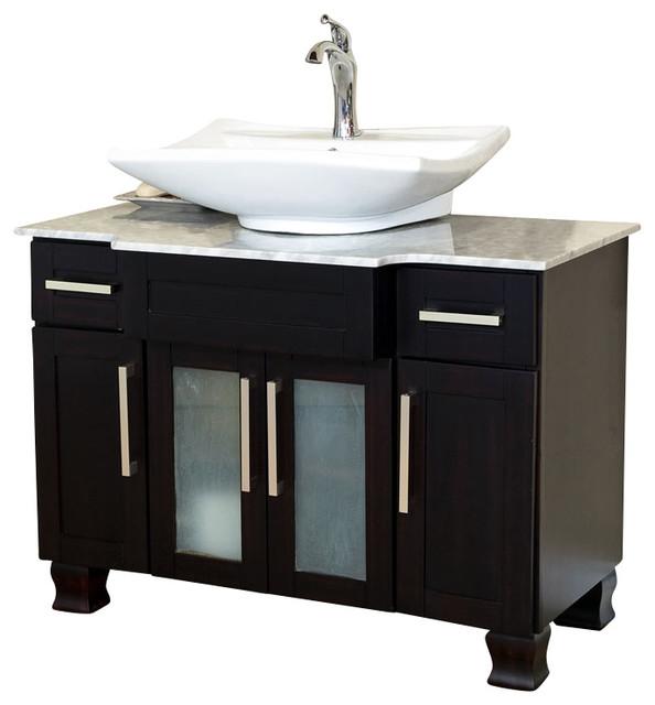 40 Inch Single Sink VanityDark Mahogany  Modern
