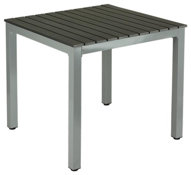 jaxon aluminum outdoor table poly wood silver slate gray