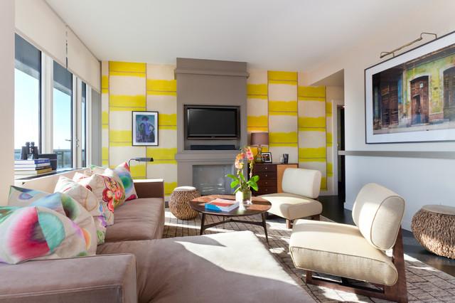 Drew McGukin Interiors - Chelsea Apartment contemporary-living-room
