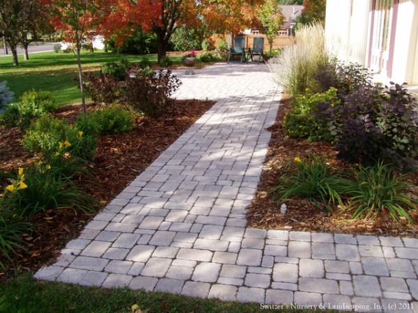 front entry interlocking paver
