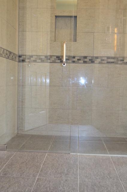 ZeroEntry Shower  Contemporary  Bathroom  Cincinnati