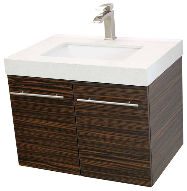 WindBay 24 Floating Vanity Sink Set Modern Bathroom