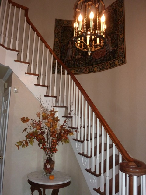 Foyer Chandelier Traditional Staircase Nashville