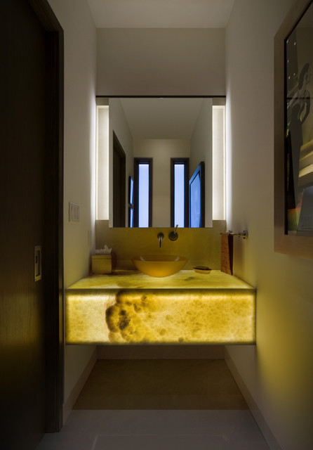 Stunning Powder Room Lighting  Contemporary  Powder Room  denver  by 186 Lighting Design