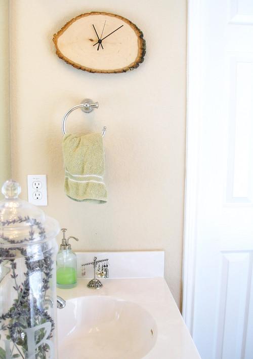 Bathroom Driftwood Clock