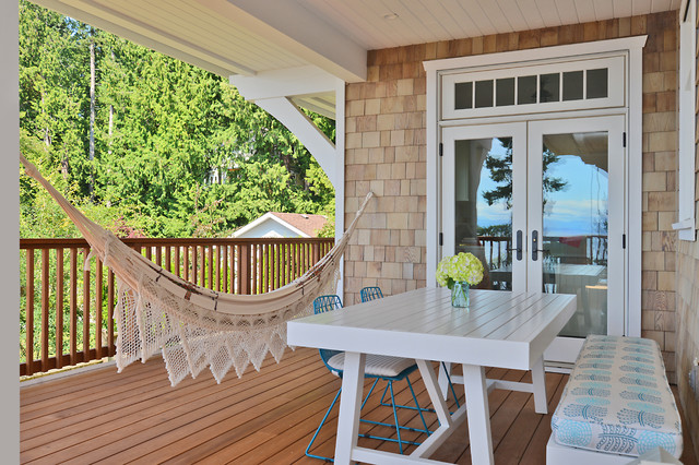 Craftsman Beach House Gibsons BC  Beach Style  Deck