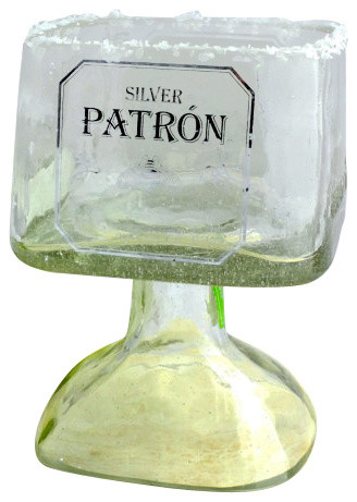 Patron Tequila Bottle Margarita Drinking Glass - Craftsman ...