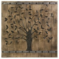 Tree of Life Wood Wall Panel - Contemporary - Wall Decor ...