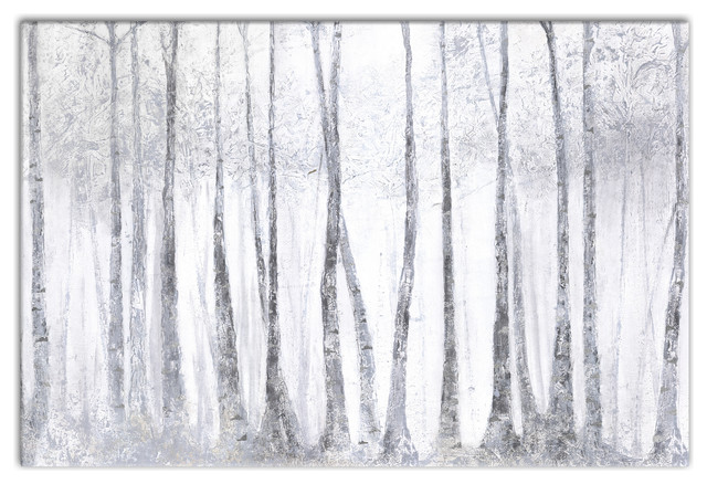 silver birch trees canvas wall art x traditional prints
