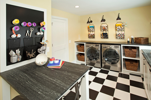 Lake View Luxury Home transitional-laundry-room