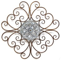 Kaila Bronze Traditional Scroll Medallion Wall Decor ...