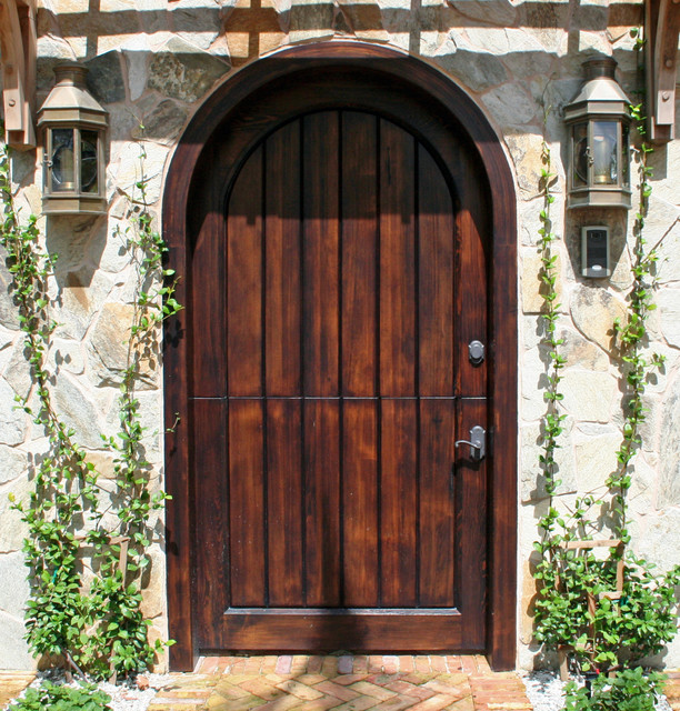 Old growth cypress dutch door  Rustic  Entry  Tampa