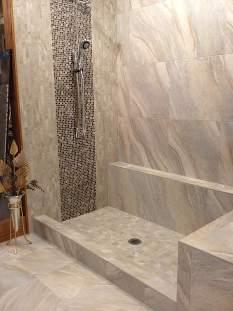 Ragno Boardwalk Grey  Modern  Bathroom  other metro  by Glens Falls Tile  Supplies