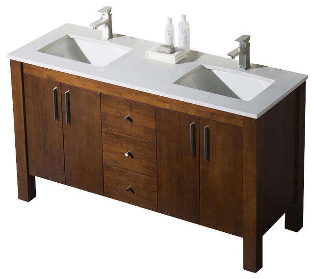 Parsons 60 Double Sink Vanity  Transitional  Bathroom Vanities And Sink Consoles  by BATHROOM