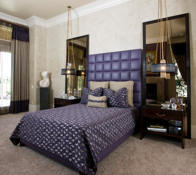 Hollywood Regency Master Bedroom contemporary-bedroom