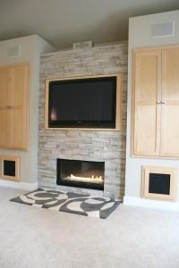 Tv Above Stone Fireplace Houzz