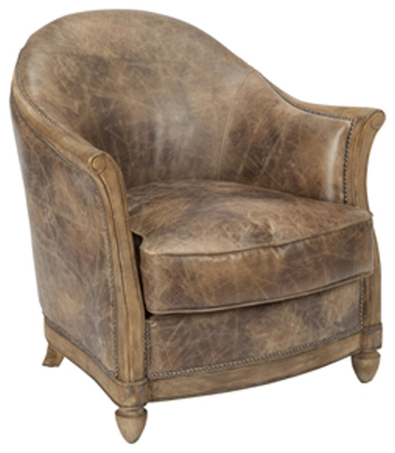 Helmsley Club Chair Light Brown  Rustic  Armchairs And