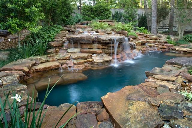 Looking Glass Falls Wallpaper Natural Waterfall Amp Swimming Pool Eclectic Pool